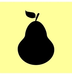 Pear sign flat style icon vector