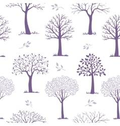 Seamless pattern trees vector