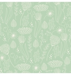 Seamless pattern vintage floral elements vector