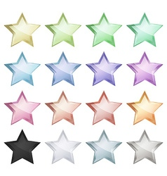 multicolored glossy stars that can be used for the vector image