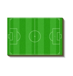 Football or soccer field icon cartoon style vector