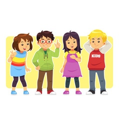 Casual kids vector
