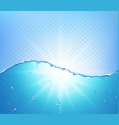 Abstract water wave with bubbles vector
