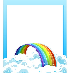 An empty paper template with a rainbow at the vector image vector image