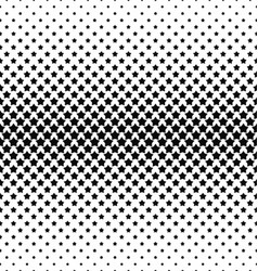 Black and white star pattern background vector