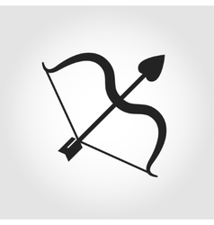 Black cupid bow icon vector