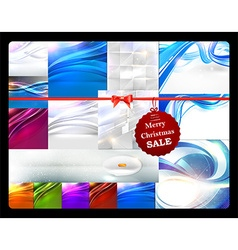 Christmas Sale of Business Templates vector image vector image