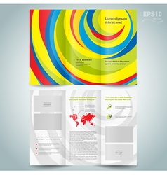 Colored brochure design template folder leaflet vector
