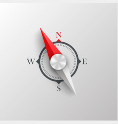 Compass on a white background vector