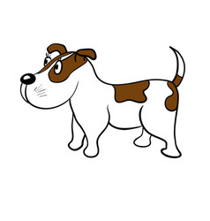 cute dog on a white background vector image vector image