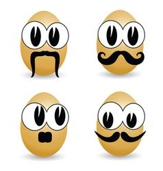 Egg cartoon face vector