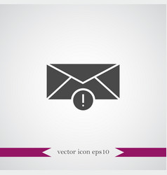 envelop icon simple business sign vector image vector image