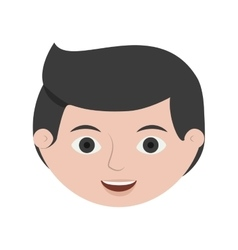 Front face man business with black hair vector