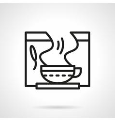 Healing herbal tea black line icon vector