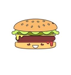 Hot burger vector