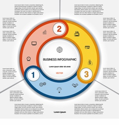 Infographic for success business project 3 vector image