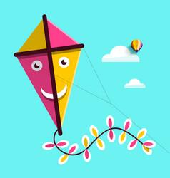 Kite up the sky vector
