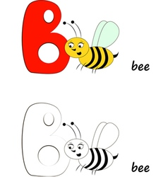 Letter B Bee vector image vector image