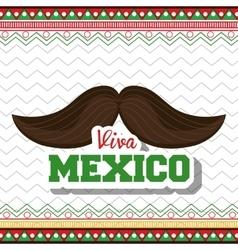 Moustache viva mexico symbol graphic vector