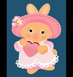 patchwork bunny vector image vector image