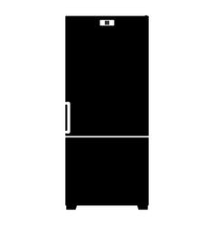 refrigerator icon the black color icon vector image