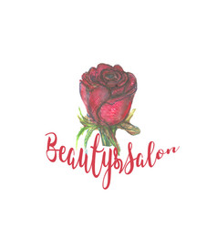 rose design for spa boutique beauty salon vector image