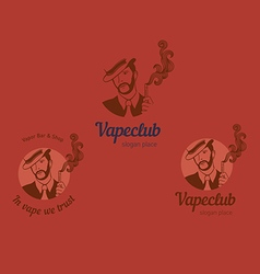 Set logos for the club shop or electronic cig vector image
