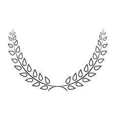 Sign laurel wreath mono 103 vector