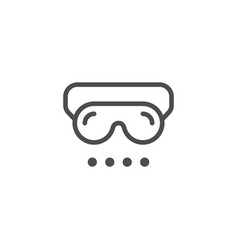 sleep mask line icon vector image vector image