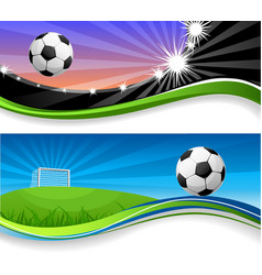 Soccer banners vector image
