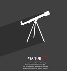 Telescope symbol flat modern web design with long vector