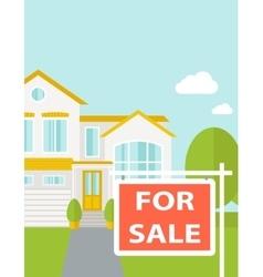 The house on sale vector