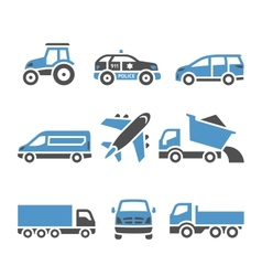 Transport Icons - A set of twelfth vector image vector image