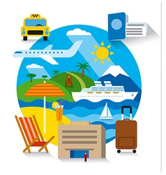 sea travel and cruise vector image