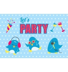 Lets party poster vector
