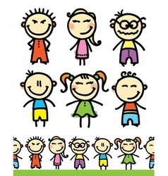 set of kids vector image