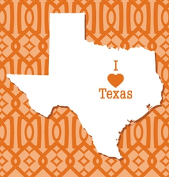 Modern trellis pattern texas card vector