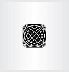 Geometric square icon symbol black design element vector