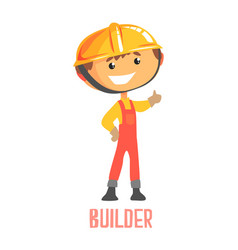 Builder construction worker repairman colorful vector
