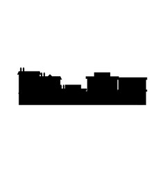 City buildings silhouette downtown exterior image vector