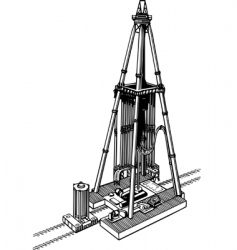 Oil drilling rig vector