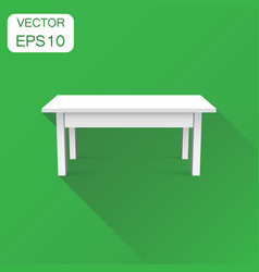 3d table for object presentation icon business vector