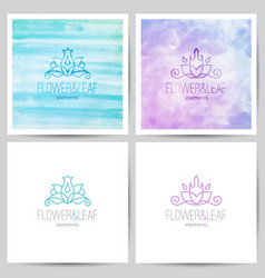 Floral logo set vector