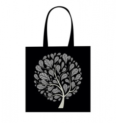 shopping bag design art tree vector image