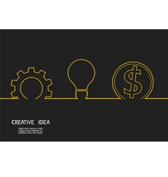Creative idea concept make money vector