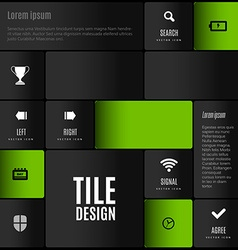 Tile design vector