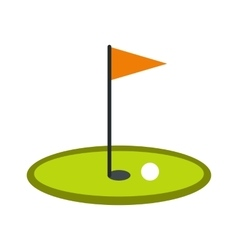 Golf flag icon vector image