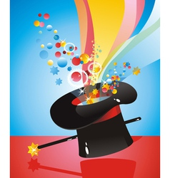 Silk hat magician vector