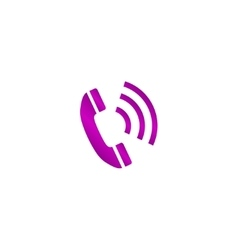 Flat icon of a phone vector