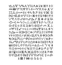 Alchemy symbols vector